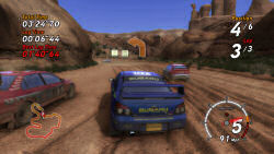 SEGA Rally Canyon stage
