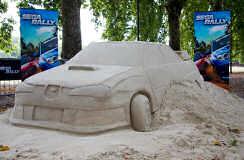 SEGA Rally sand sculpture - Battersea Park