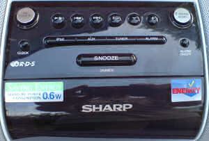 Sharp i-Elegance iPod controls