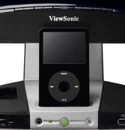 iPod in Viewsonic VX2245wm docking station